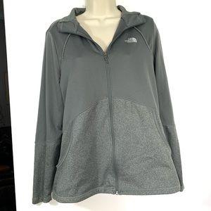 North face zip up hoodie- heather grey